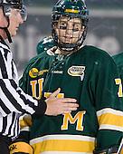 Brendan Kelleher, Mike Montagna (Vermont - 7) - The University of Massachusetts (Amherst) Minutemen defeated the University of Vermont Catamounts 3-2 in overtime on Saturday, January 7, 2012, at Fenway Park in Boston, Massachusetts.