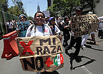 Thousands of people attend the ralyy #YoSoy132 against the Revolutionary Institutional Party (PRI) candidate Enrique Peña Nieto on a main Mexico City's thoroughfare, June 10, 2012. Photo by Heriberto Rodriguez