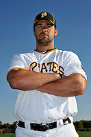 Feb 28, 2010; Bradenton, FL, USA; Pittsburgh Pirates  outfielder Garrett Jones (46) during  photoday at Pirate City. Mandatory Credit: Tomasso De Rosa/ Four Seam Images