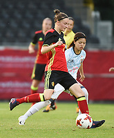20170613 - LEUVEN ,  BELGIUM : Belgian Elke Van Gorp pictured during the female soccer game between the Belgian Red Flames and Japan , a friendly game before the European Championship in The Netherlands 2017  , Tuesday 13 th Juin 2017 at Stadion Den Dreef  in Leuven , Belgium. PHOTO SPORTPIX.BE | DIRK VUYLSTEKE