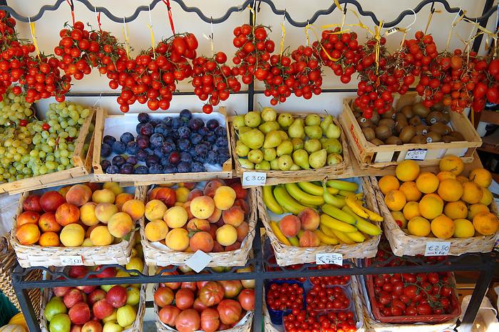 Fresh fruit stall, Positano Italy