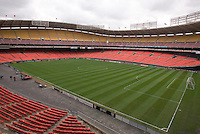 RFK Stadium prior to the MLS season opener. DC United defeated the San Jose Earthquakes 2 to 1 during the MLS season opener at RFK Stadium, Washington, DC, on April 3, 2004.