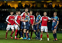 Fleetwood Town prepare to attack a corner kick<br /> <br /> Photographer Andrew Kearns/CameraSport<br /> <br /> The EFL Sky Bet League One - Wycombe Wanderers v Fleetwood Town - Tuesday 11th February 2020 - Adams Park - Wycombe<br /> <br /> World Copyright © 2020 CameraSport. All rights reserved. 43 Linden Ave. Countesthorpe. Leicester. England. LE8 5PG - Tel: +44 (0) 116 277 4147 - admin@camerasport.com - www.camerasport.com