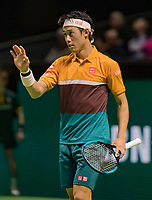 Rotterdam, The Netherlands, 17 Februari 2019, ABNAMRO World Tennis Tournament, Ahoy, Semis, Kei Nishikori (JPN),<br /> Photo: www.tennisimages.com/Henk Koster