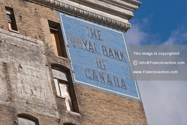 A Royal Bank of Canada vintage Mural advertisement is pictured in Winnipeg Sunday May 22, 2011.