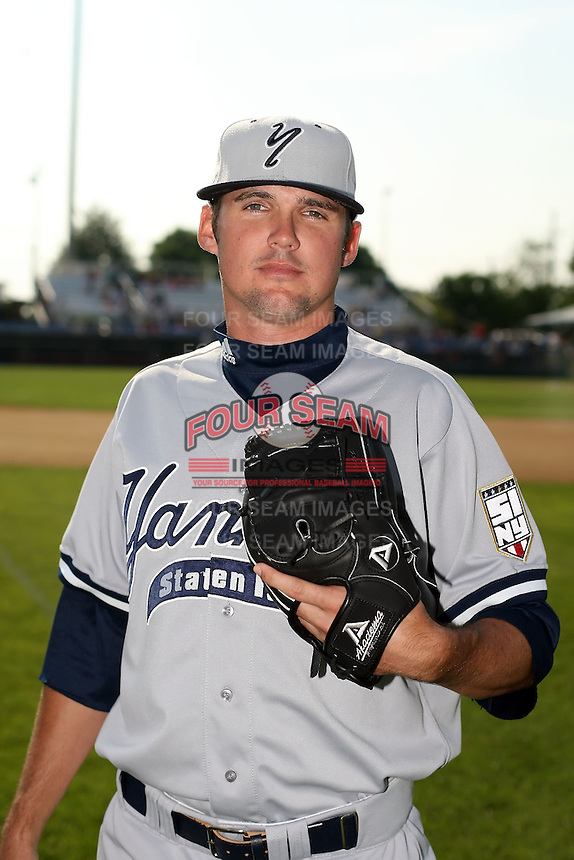 July 5th 2008:  Pitcher Drew Shetrone of the Staten Island Yankees, Class-A affiliate of the NY Yankees, during a game at Falcon Park in Auburn, NY.  Photo by:  Mike Janes/Four Seam Images
