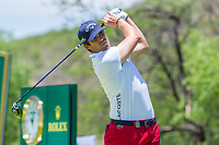 Chris Paisley (ENG) on the 18th tee on the 1st tee during the first round at the Nedbank Golf Challenge hosted by Gary Player,  Gary Player country Club, Sun City, Rustenburg, South Africa. 14/11/2019 <br /> Picture: Golffile | Tyrone Winfield<br /> <br /> <br /> All photo usage must carry mandatory copyright credit (© Golffile | Tyrone Winfield)