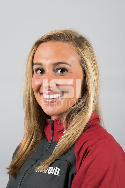 STANFORD, CA - Carolyn Morrice of the Stanford University Women's Synchronized Swimming Team