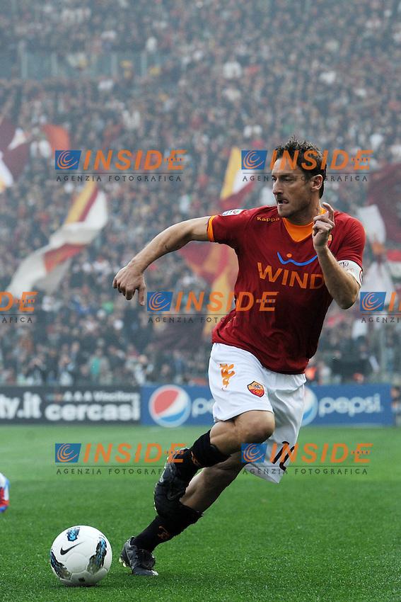 Francesco Totti (Roma).Roma, 04/03/2012 Stadio Olimpico.Football Calcio 2011/2012 .Roma vs Lazio 1-2.Campionato di calcio Serie A.Foto Insidefoto Antonietta Baldassarre