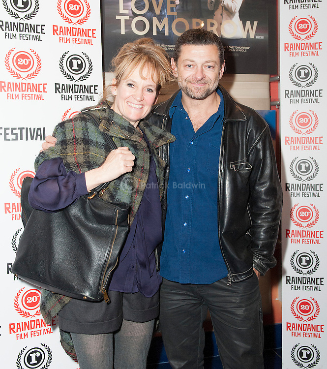 "Andy Serkis and his wife Lorraine Ashbourne attend the world premiere of the film ""Love Tomorrow"" at the 20th Raindance Film Festival, London"