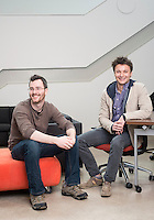 gSchool students, from right, Raphael Weiner (cq) and Logan Sears (cq) at Galvanize in Denver, Colorado, Monday, March 4, 2013. . According to their website: Galvanize creates an ?innovation ecosystem? designed to give entrepreneurs and innovators the best chance of success at the start of their next (or first) big thing. Through the three pillars of Capital, Community, and Curriculum, Galvanize builds a community greater than the sum of its parts to spark disruptive ideas and breakout companies.