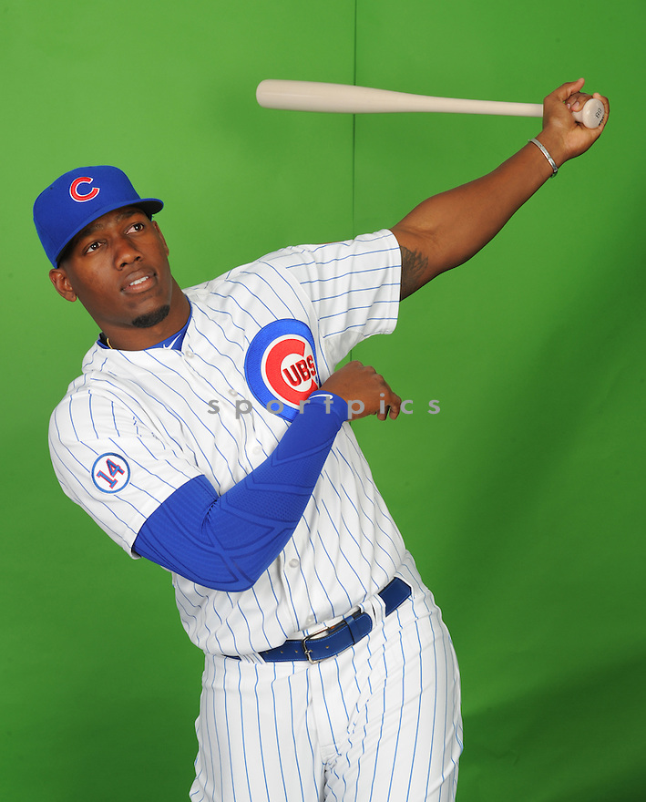 Chicago Cubs Jorge Soler (68) during photo day on March 2, 2015 in Mesa, AZ.