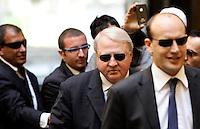 L'imprenditore statunitense Thomas Richard DiBenedetto lascia lo studio legale Tonucci a Roma, 31 marzo 2011..UPDATE IMAGES PRESS/Riccardo De Luca