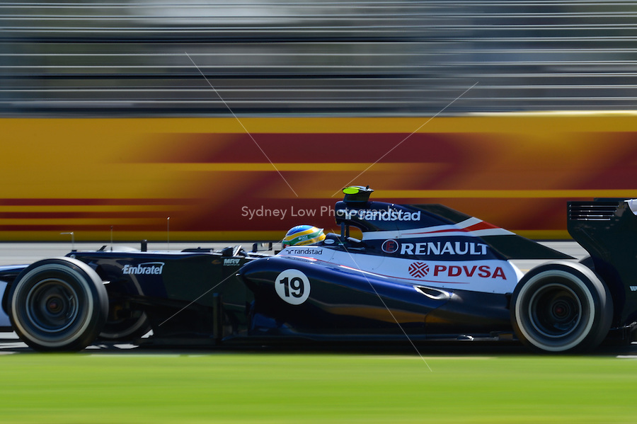 MELBOURNE, 17 March - Bruno Senna of the Williams F1 Team qualifying for the 2012 Formula One Australian Grand Prix at the Albert Park Circuit in Melbourne, Australia. (Photo Sydney Low / syd-low.com)