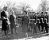 "Washington, DC - (FILE) -- Prime Minister Margaret Thatcher of the United Kingdom, right, United States President Jimmy Carter, left, inspect the troops during the arrival ceremonies in her honor at the White House in Washington, D.C. on Monday,December 17, 1979. In her remarks she praised Carter's, handling of the Iran hostage crisis by saying he has gained respect around the world for his courage and patience. .Credit: Benjamin E. ""Gene"" Forte - CNP"