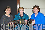 Jan Scofield, Ann McAulliffe and Ann O'Donoghue Castleisland enjoying the concertina workshop at the Gathering festival in the Gleneagle Hotel Saturday morning .