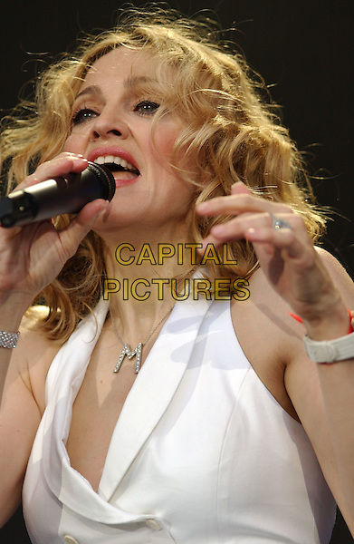 MADONNA.Live 8 concert to raise awareness for an end to extreme poverty in Africa..©Phil Loftus/Capital Pictures.London 2 July 2005.live8 aid.www.capitalpictures.com.sales@capitalpictures.com.© Capital Pictures.