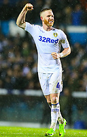 Leeds United's Adam Forshaw celebrates with the fans after the match <br /> <br /> Photographer Alex Dodd/CameraSport<br /> <br /> The EFL Sky Bet Championship - Leeds United v Queens Park Rangers - Saturday 8th December 2018 - Elland Road - Leeds<br /> <br /> World Copyright &copy; 2018 CameraSport. All rights reserved. 43 Linden Ave. Countesthorpe. Leicester. England. LE8 5PG - Tel: +44 (0) 116 277 4147 - admin@camerasport.com - www.camerasport.com