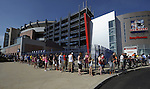 (Foxboro 070613) A long line during an exchange of Aaron Hernandez jerseys Saturday at the pro shop at Gillette Stadium in Foxboro.  (Jim Michaud Photo) For Sunday