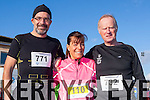 Peter Nolan, Rhona Johnson and Teddy Reynolds Tralee who ran in the Jingle run in Killorglin on Saturday