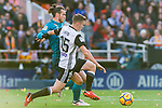 1Gareth Bale of Real Madrid (L) fights for the ball with Antonio Latorre Grueso, Lato, of Valencia CF (R) during the La Liga 2017-18 match between Valencia CF and Real Madrid at Estadio de Mestalla  on 27 January 2018 in Valencia, Spain. Photo by Maria Jose Segovia Carmona / Power Sport Images