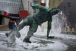 The statue to Tom Finney outside the ground before Preston North End take on Reading in an EFL Championship match at Deepdale. The home team won the match 1-0, Jordan Hughill scoring the only goal after 22nd minutes, watched by a crowd of 11,174.