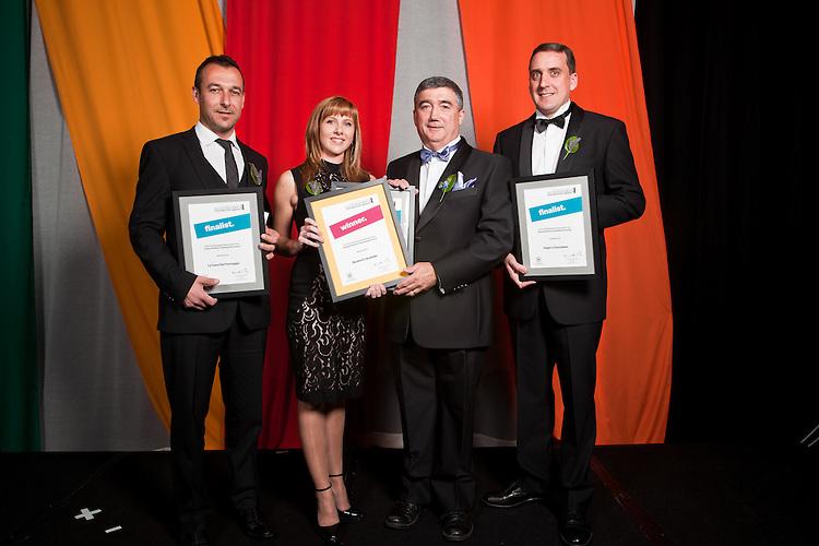 2010 Premiers Food Awards Dinner. Food and Beverage Development Fund, Valuing Workforce Development.  Finalists group.