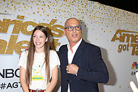 "Courtney Hadwin, Howie Mandel<br /> at the ""America's Got Talent"" Season 13 Live Show Red Carpet, Dolby Theater, Hollywood, CA 08-14-18<br /> David Edwards/DailyCeleb.com 818-249-4998"