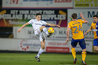 Luke O'Nien of Wycombe Wanderers during the The Checkatrade Trophy  Quarter Final match between Mansfield Town and Wycombe Wanderers at the One Call Stadium, Mansfield, England on 24 January 2017. Photo by Andy Rowland.