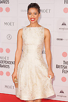 Gugu Mbatha-Raw arriving for the Moet British Independent Film Awards 2014, London. 07/12/2014 Picture by: Alexandra Glen / Featureflash