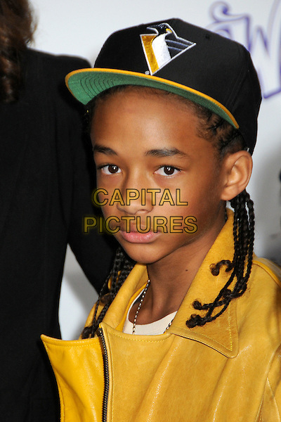"JADEN SMITH .""Justin Bieber: Never Say Never"" Los Angeles Premiere held at Nokia Theater L.A. Live, Los Angeles, California, USA..February 8th, 2011.headshot portrait baseball cap hat leather .CAP/ADM/BP.©Byron Purvis/AdMedia/Capital Pictures."