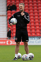 Fleetwood Town First Team Coach Clint Hill during the pre-match warm-up <br /> <br /> Photographer David Shipman/CameraSport<br /> <br /> The EFL Sky Bet League One - Doncaster Rovers v Fleetwood Town - Saturday 6th October 2018 - Keepmoat Stadium - Doncaster<br /> <br /> World Copyright © 2018 CameraSport. All rights reserved. 43 Linden Ave. Countesthorpe. Leicester. England. LE8 5PG - Tel: +44 (0) 116 277 4147 - admin@camerasport.com - www.camerasport.com