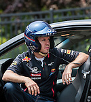 Behind the scenes during the filming of the 3rd Infiniti's Inspired Performers' series with Red Bull Racing driver Sebastian Vettel of Germany and R&B artist Melanie Fiona of Canada in New York on June 11, 2012, USA. Photo by Victor Fraile / The Power of Sport Images for Infiniti