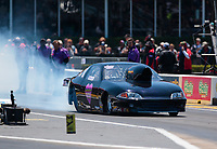 Apr 14, 2019; Baytown, TX, USA; NHRA mountain motor pro stock driver Dillon Voss during the Springnationals at Houston Raceway Park. Mandatory Credit: Mark J. Rebilas-USA TODAY Sports