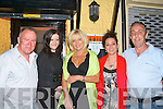HOME AT LAST: Bill Brosnan (left) originally from O'Rahilly's Villas now living in Newcastle UK visited his home town after 10yrs and dined in Tequila's, Barrick Lane, Tralee on Saturday night with some good friends of his l-r: Bill Brosnan, Kathriona Costello, Phil Millar, Carol Coxon and Noel O'Sullivan..