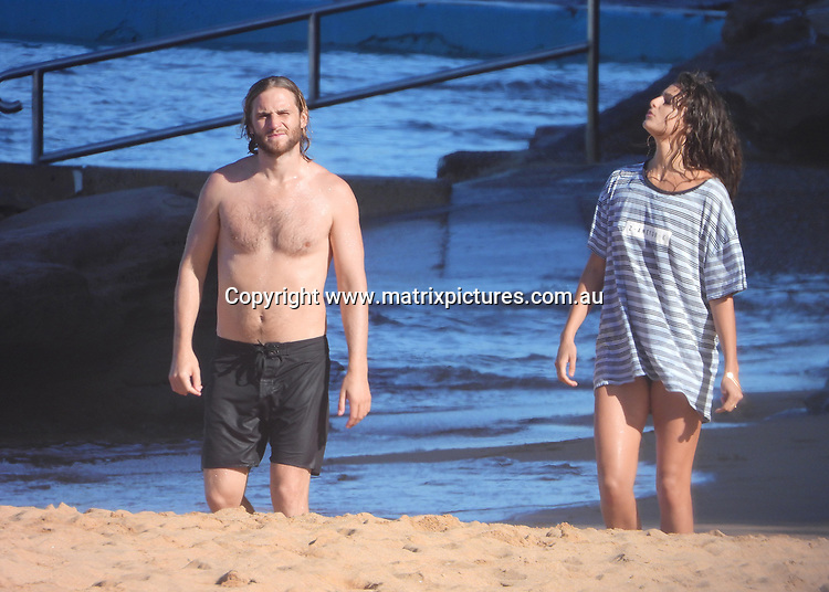 1 DECEMBER 2018 SYDNEY AUSTRALIA<br /> WWW.MATRIXPICTURES.COM.AU<br /> <br /> EXCLUSIVE PICTURES<br /> <br /> Former Home and Away actor George Mason and his girlfriend Manon Buchlaet pictured at Palm Beach. <br /> <br /> Note: All editorial images subject to the following: For editorial use only. Additional clearance required for commercial, wireless, internet or promotional use.Images may not be altered or modified. Matrix Media Group makes no representations or warranties regarding names, trademarks or logos appearing in the images.