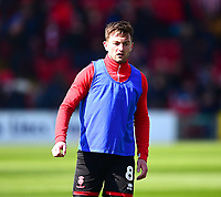 Lincoln City's Lee Frecklington during the pre-match warm-up<br /> <br /> Photographer Andrew Vaughan/CameraSport<br /> <br /> The EFL Sky Bet League Two - Lincoln City v Cheltenham Town - Saturday 13th April 2019 - Sincil Bank - Lincoln<br /> <br /> World Copyright &copy; 2019 CameraSport. All rights reserved. 43 Linden Ave. Countesthorpe. Leicester. England. LE8 5PG - Tel: +44 (0) 116 277 4147 - admin@camerasport.com - www.camerasport.com