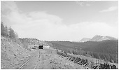 D&amp;RGW Marshall Pass snowsheds and snow fences, looking southeast.<br /> D&amp;RGW  Marshall Pass, CO  Taken by Lunoe, Bob - 8/18/1941