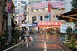 Photo shows a central part of Shimokitazawa in Setagaya Ward, Tokyo, Japan..Photographer: Robert Gilhooly