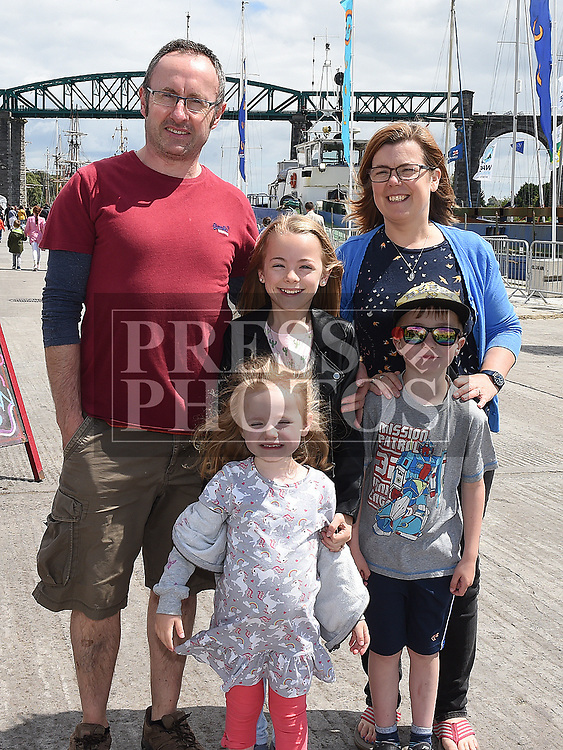 The Talbot family at the Drogheda Maratime Festival. Photo:Colin Bell/pressphotos.ie