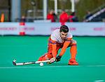 ROTTERDAM -Lars Balk (NED)   tijdens   de Pro League hockeywedstrijd heren, Nederland-Spanje (4-0) . COPYRIGHT KOEN SUYK