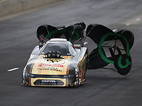 Jul 20, 2019; Morrison, CO, USA; NHRA funny car driver Jim Campbell during qualifying for the Mile High Nationals at Bandimere Speedway. Mandatory Credit: Mark J. Rebilas-USA TODAY Sports