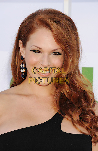 Amanda Righetti.CBS, CW, Showtime 2012 Summer TCA Party held at The Beverly Hilton Hotel, Beverly Hills, California, USA..July 29th, 2012.headshot portrait black one shoulder dangling white earrings .CAP/ROT/TM.©Tony Michaels/Roth Stock/Capital Pictures