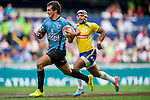 Uruguay vs Brazil during their HSBC Sevens Wold Series Qualifier match as part of the Cathay Pacific / HSBC Hong Kong Sevens at the Hong Kong Stadium on 27 March 2015 in Hong Kong, China. Photo by Xaume Olleros / Power Sport Images