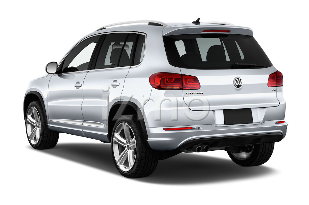 Car pictures of rear three quarter view of 2016 Volkswagen Tiguan 2.0T-R-Line 5 Door SUV Angular Rear