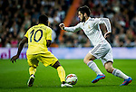 Real Madrid spanish forward Isco Alarcon during spanish league football match beetwen Real Madrid and Villarreal CF at the Santiago Bernabeu stadium in Madrid on march 01, 2015. Samuel de Roman / Photocall3000