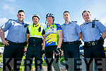 At t the Pedal In The Park event from Tralee Bay Wetlands on Friday evening were Garda Steven Giffin,Garda Aidan O'Mahony, Jimmy Deenihan, Garda Marcus Twomey and Garda Eoin Walsh