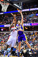 Washington defeated Los Angeles 106-101 at the Verizon Center in Washington, D.C. on Wednesday, March 7, 2012. Alan P. Santos/DC Sports Box