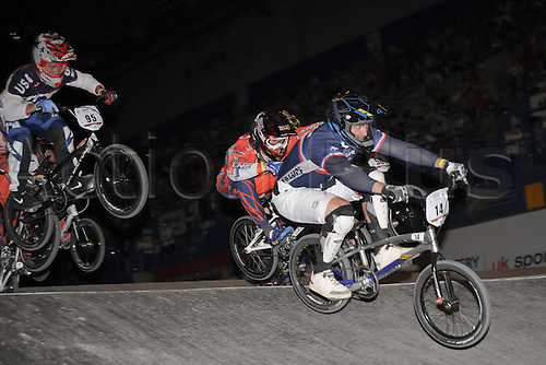05.26.2012. England, Birmingham, National Indoor Arena. UCI BMX World Championships. Quentin CALEYRON in action for France at the NIA