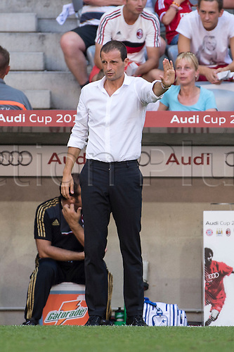 01.08.2013. Munich, Germany.  Massimiliano Allegri (Milan) Audi Cup 2013 match between AC Milan 1-0 Sao Paulo FC at Allianz Arena in Munich, Germany.